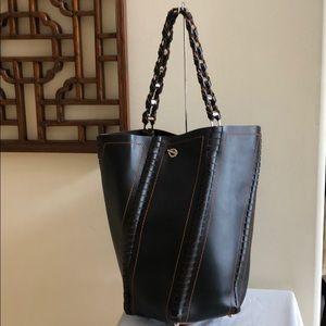 PROENZA SCHOULER Large Black Hex Bucket Bag